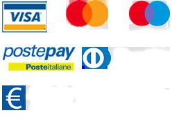 Metodi di pagamento accettati: Visa, Mastercard, Maestro, Postepay, Diners, Bonifico Bancario, Noleggio operativo Grenke