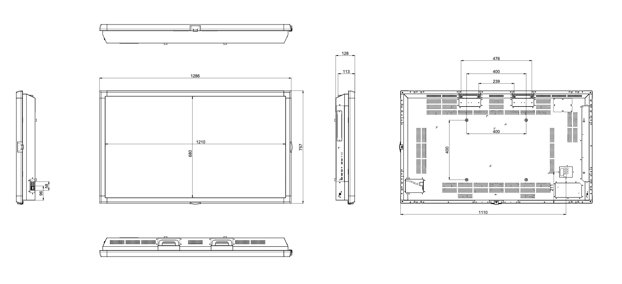 Dimensioni PDX55S257